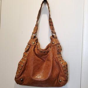 Kooba Studded Genuine Leather Shoulder Bag